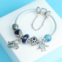 Kaliyah 100% Ocean Silver Heart Stearin 925 New Brand 1:1 Genuine Pulse Conjure Love Bracelet Charm And Friends Theme