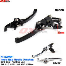Aluminum Alloy Folding Clutch lever Brake Lever Fit To CRFKLX Pit Pro Xmotos BSE KAYO Pit Dirt Bike crf klx pit pro xmotos bse kayo pit dirt bikes parts most aluminum alloy folding clutch lever brake lever set free shipping
