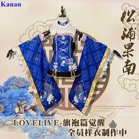 Аниме! Lovelive Aqours Tsushima Yoshiko Cheongsam Пробуждение прекрасный форма косплэй костюм Хэллоуин наряд для женщин Бесплатная доставка