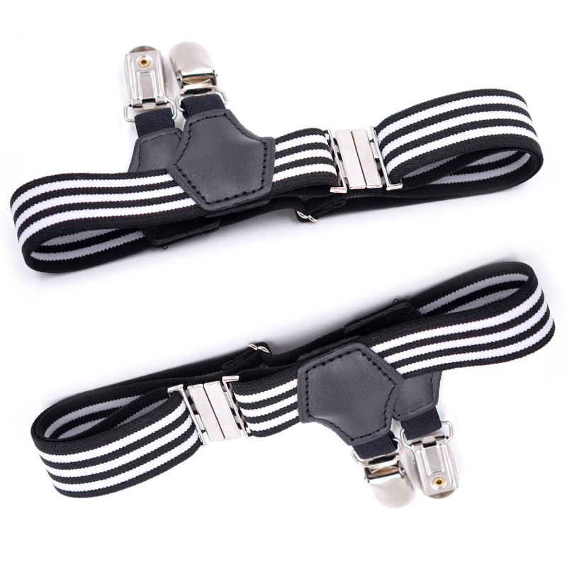1 Pair Men Women Sock Suspenders Garter Belt Adjustable Elastic Garter Strap Leg Hold Up Braces Clip For Socking T-shirt YLM9242