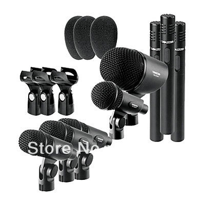 top drum takstar dms 8p drum microphone 8p set series kick small drum condenser mic all in one. Black Bedroom Furniture Sets. Home Design Ideas