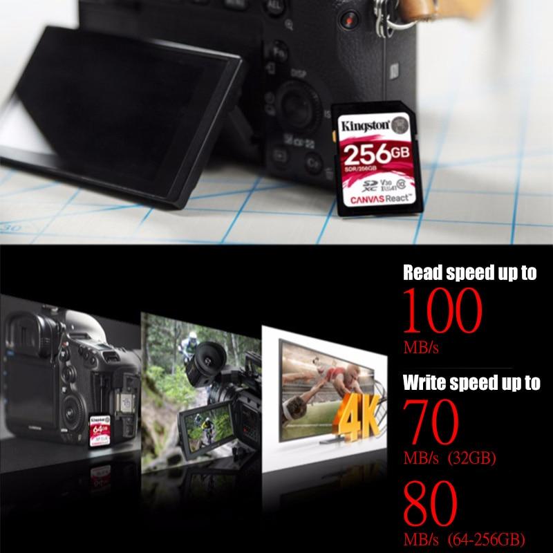 Kingston 128GB SD Card 16GB memory card Class10 64GB cartao de memoria SDHC SDXC USH-I HD video 32GB carte sd For Camera 256GB 4