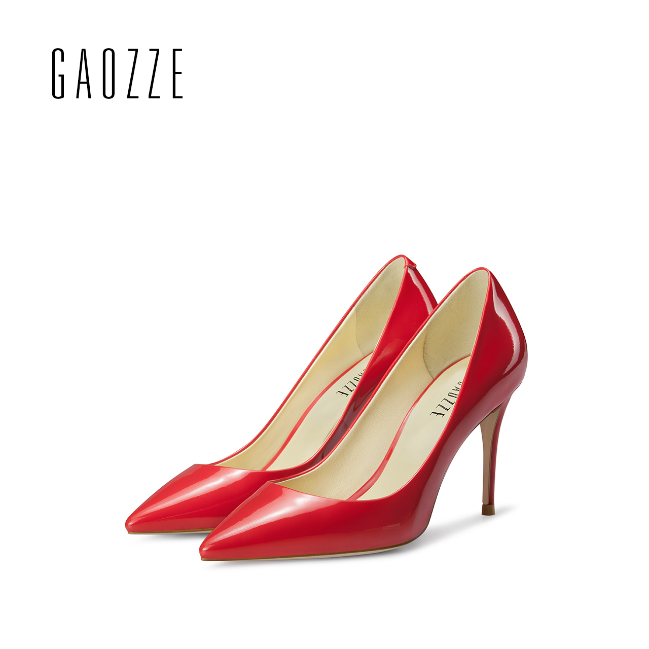 GAOZZE autumn women shoes high heel pumps leather red wedding shoes pointed toe high heels pump shoes sexy female shoes 2017 girl sweater dress superfine wool knitted dress 2015 o neck pocket long sweater tassels christmas children clothing kids dresses