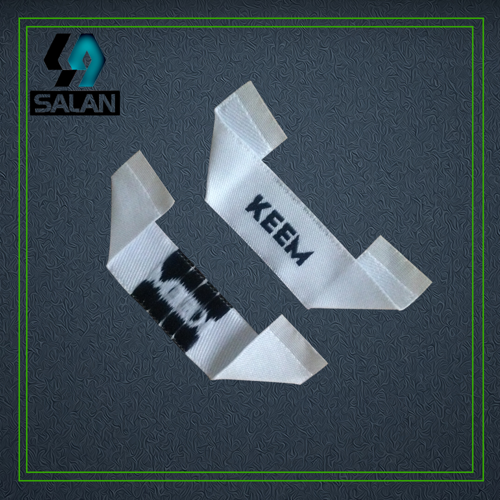 Customized Mitre Fold Cloth Main Labels OEM Eco Friendly