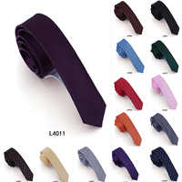 30pcs/lot 4cm Tie High Quality South Korean Silk Slim Skinny Solid Neck Tie Handmade Fashion Solid Color Dot Wedding Party Gift