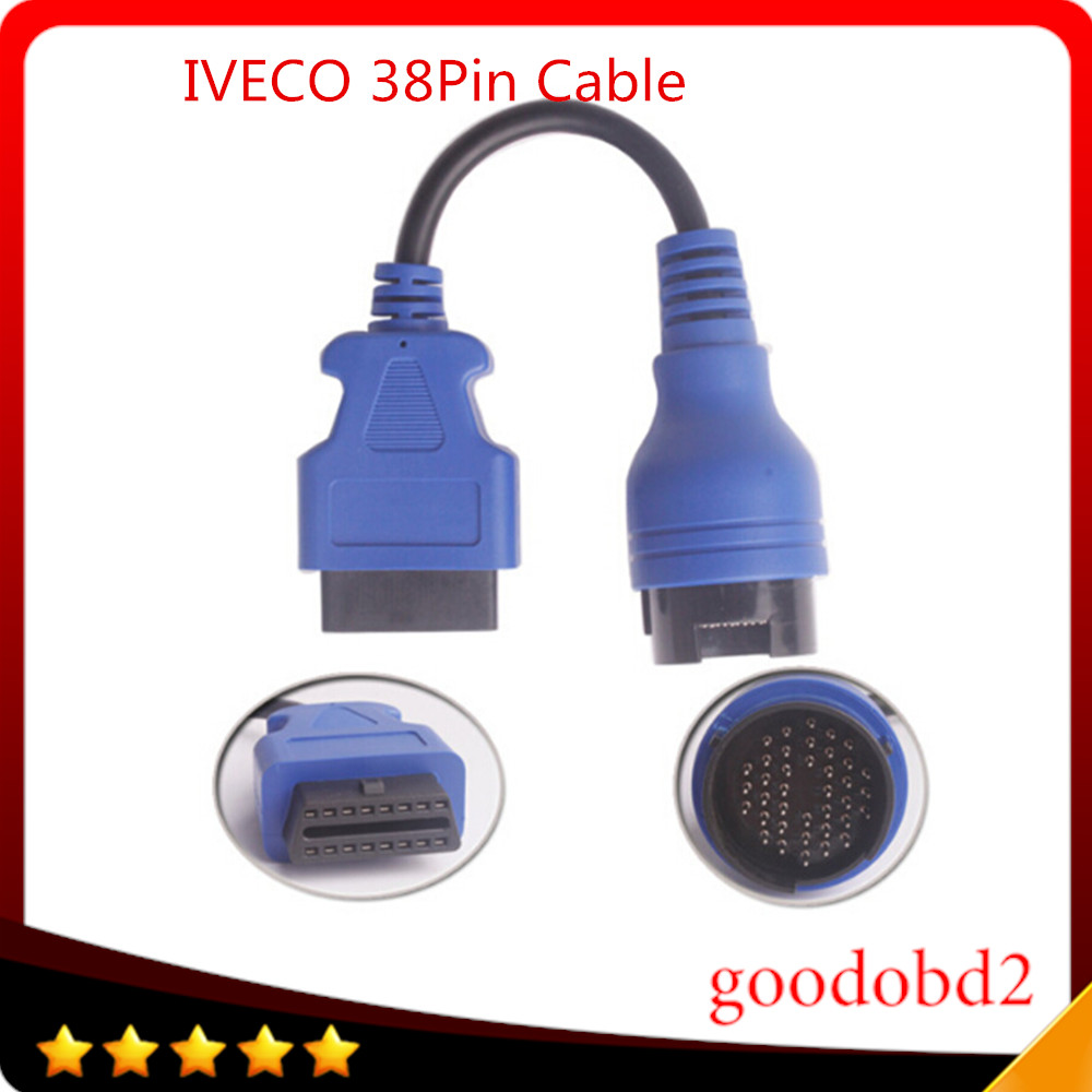 For Benz  IVECO 38Pin Cable OBD2 Diagnostic Tool Adapter Connector Car Diagnostic Trucks Interface Scanner Cable