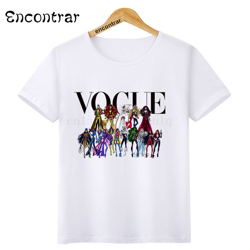 Kids Summer Short Sleeve Girls amp Boys T shirt Harajuku VOGUE Princess Print Children 39 s T shirt Casual Funny Baby Clothes ooo3094 in T Shirts from Mother amp Kids