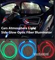 Luz Do Carro levou 2 pcs Iluminação de Luz + 1 m Dia 1.5mm Fibras ópticas para Todos Os Carros Artigo Lâmpada Atmosfera Carro Luz Cold-luz