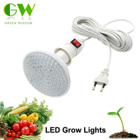 LED Grow Light 7W AC220V E27 Screw Interface Lamp Base With 4M 8M Pvc Line Indenpent
