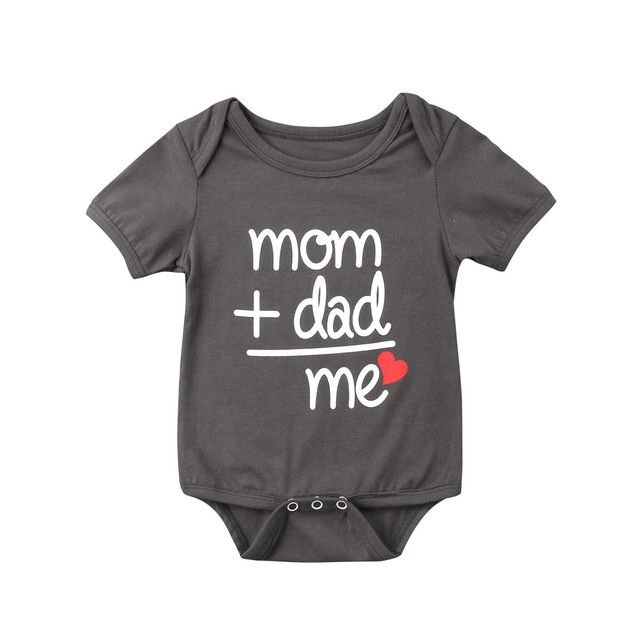 9dd8d4b25a1b Summer Newborn Baby Clothes Boy Girl Kids Cotton Bodysuit Funny Cute ...