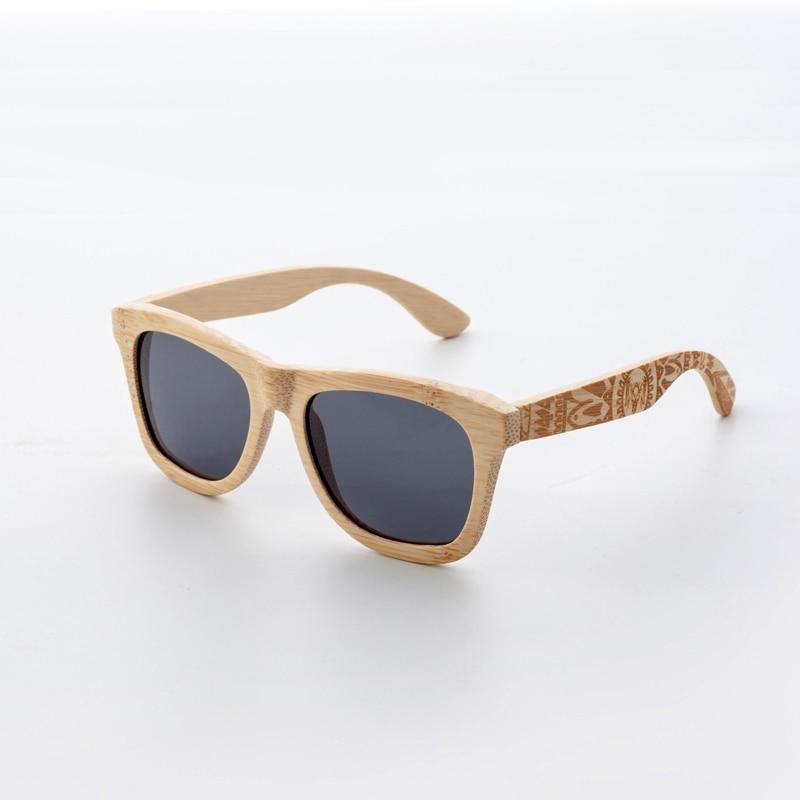 CUUPA Retro Wood Women sunglasses men high grade Brand Design Carved bamboo frame Polarized Beach eyeglasses
