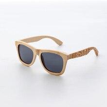 CUUPA gafas de sol de madera estilo Retro para hombre y mujer, lentes de sol polarizadas con marco de bambú tallado, diseño de marca de alta calidad, gafas playa