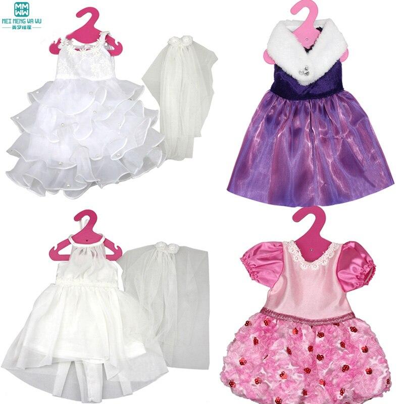 Vêtements pour poupées convient 45 cm Américain fille Zapf bébé né poupée  accessoires Variété de robe De Mariage d9ac1f41145