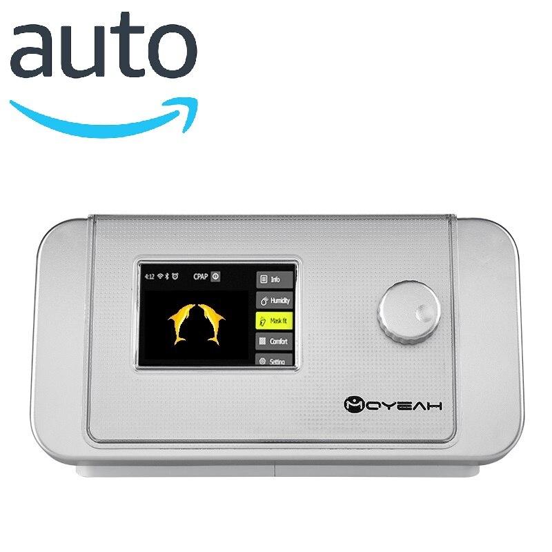 MOYEAH Portable Auto CPAP Machine Ventilator Anti Sleep Apnea OSAHS OSAS Anti Snoring With Nasal Mask And Heated Humidifier