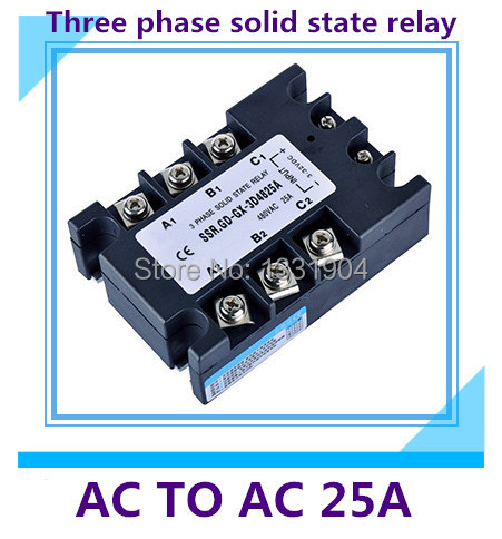 good quality AC to AC SSR-3P-25AA 25A SSR relay input 90-280V AC output AC380V Three phase solid state relay  цены
