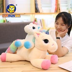 Image 2 - Soft Rainbow Unicorn Plush Toy Baby Doll  Stuffed Animal Horse Girls Christmas Gift Toy for Children halloween
