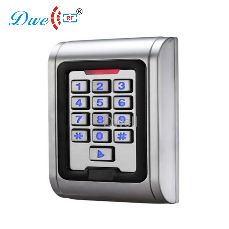 DWE CC RF access control card reader EMID password access controller waterproof IP 68 backlight keypad card reader dwe cc rf access control card reader tcp ip communication door access card reader smart chip card readers with password