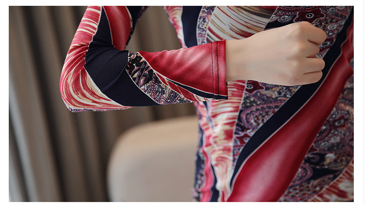 Autumn Plus Size 3XL Long Sleeve Shirt Women Fashion Woman Blouses 2019 Print Lace Blouse Womens