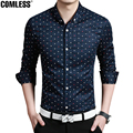 2017 New Fashion Brand Men Clothes Slim Fit Men Long Sleeve Dress Shirts Men Plaid Cotton Casual Men Shirt Social Plus Size 5XL