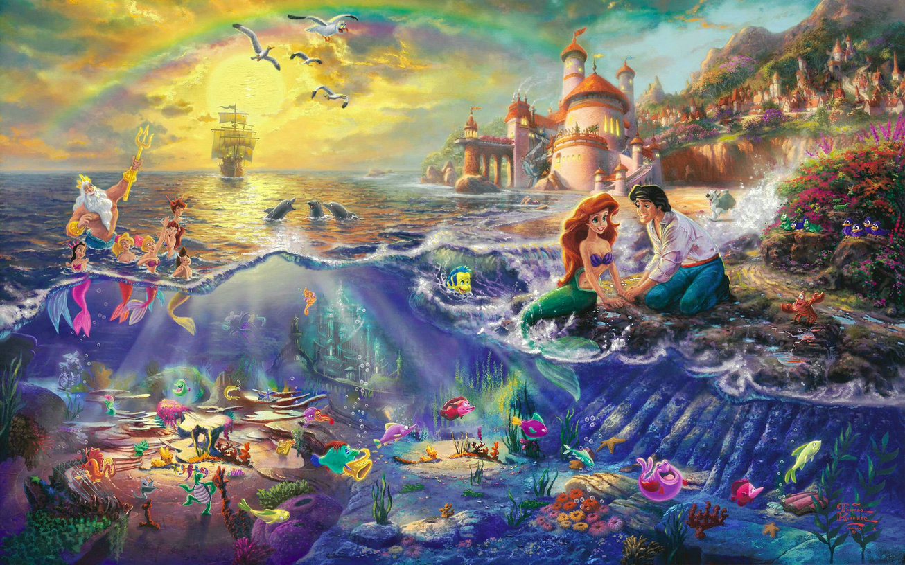 UNDER THE SEA Seabed Treasure Little Mermaid backdrops Vinyl cloth High quality Computer printed children kids background