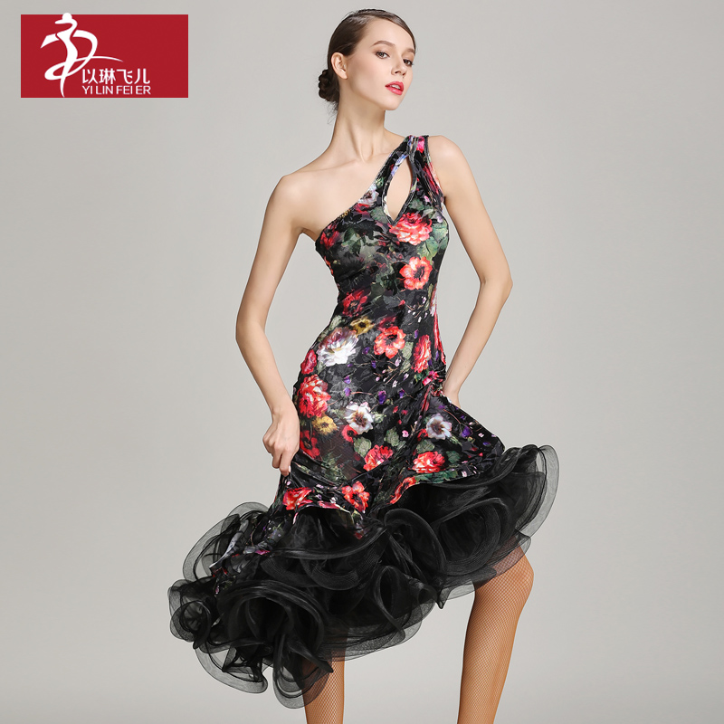 New Sale Woman Fashion Latin Dance Costume Ballroom Tango Rumba Chacha dress dance competition wear