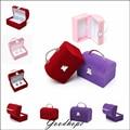 2015 New Arrival Multi Colors Velvet Earring Ring Bracelet Pendant Display Boxes Holder Jewelry Gift Organizer Case Porte Bijoux