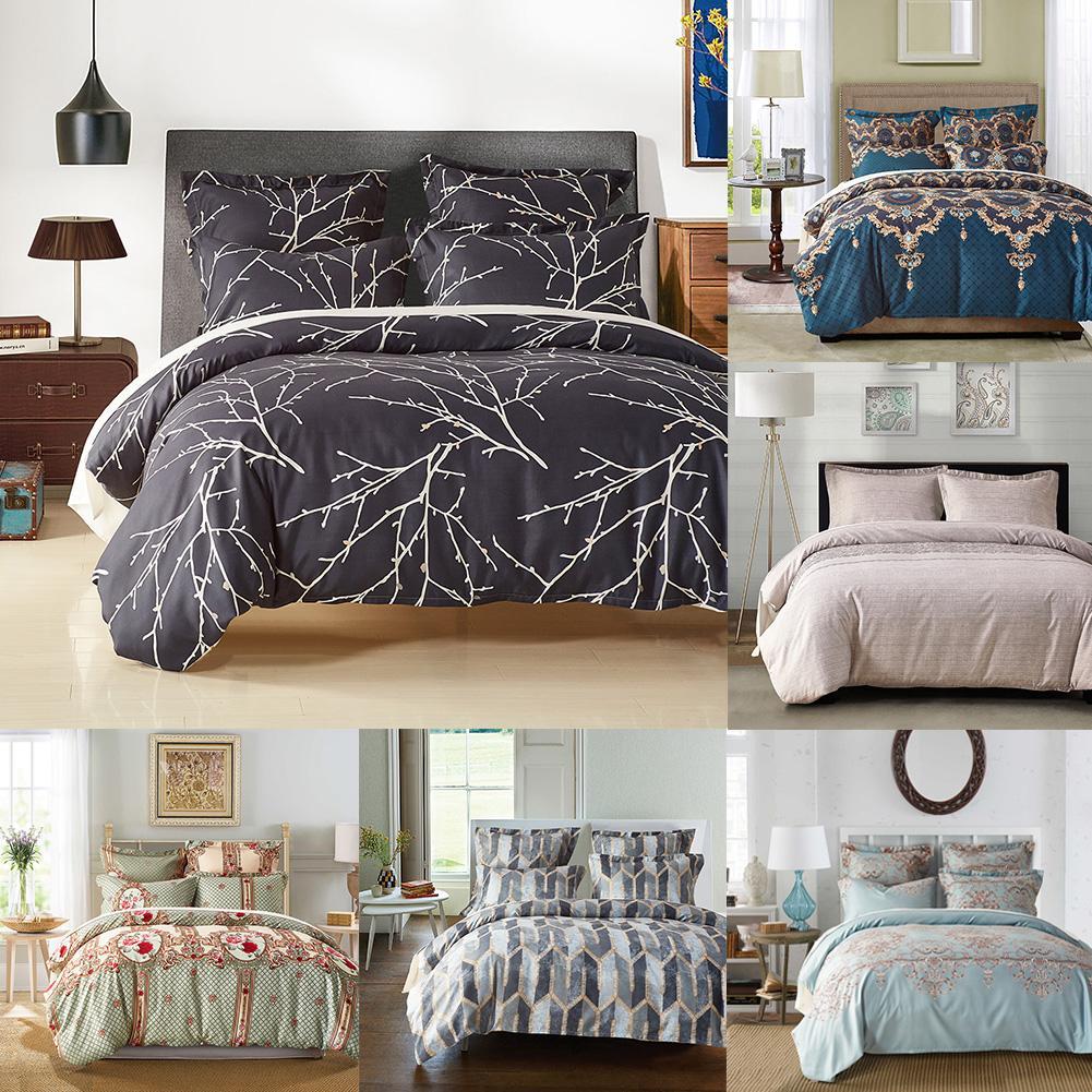 Chaude 3 pièces ensemble de literie Style européen reine roi housse de couette taie d'oreiller chambre décor