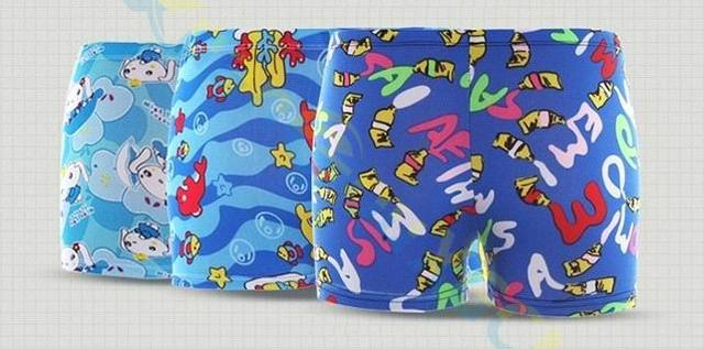 4fb7272974 80pcs free size summer Kid Diving wear Cartoon printed toddler Child Boys  swimming trunks swimsuit beach swimwear shorts