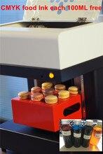 2020 fatory fornecedor 4 copos impressora de café a jato de tinta macaroon imprimir em 9 bolos, marlon, geléia, algodão doce, frutas frescas diretamente