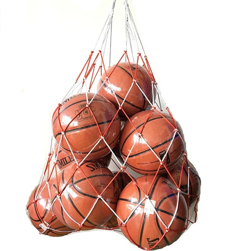 1ピース屋外スポーツネットサッカーサッカーネット10ボールキャリースレッドネットポータブルラグビーバスケットボールバレーボールボールゴールネットバッグ