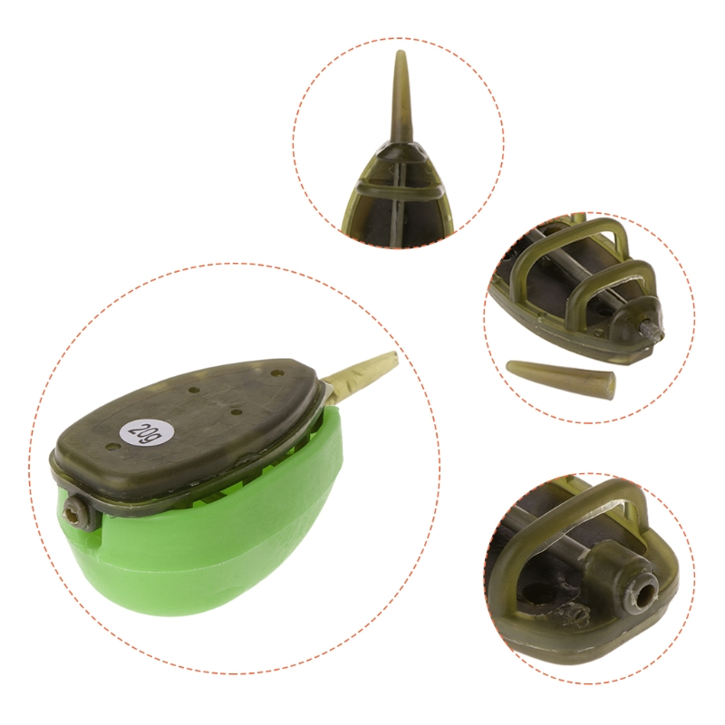 RUBBER MOULD CARP FISHING TACKLE 2 x 20G 2 x 30G 4 INLINE METHOD FEEDERS