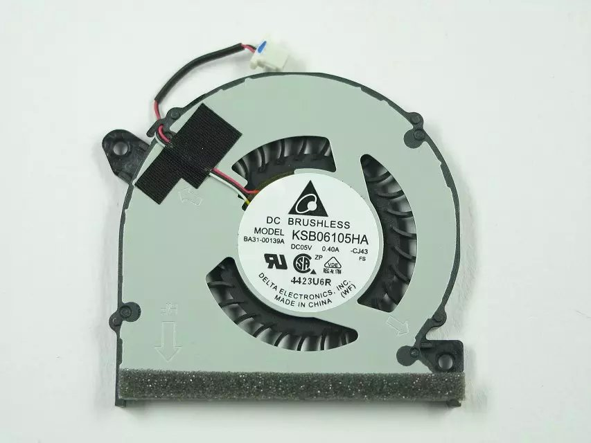 Delta KSB06105HA CJ43 DC 5V 0.4A Server Laptop fan 3-wire