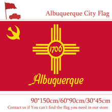 New Mexico State 3x5ft Albuquerque City Flag 60*90cm 90*150cm Custom 100d Polyester 30*45cm Car For Campaign Vote
