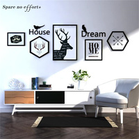 Nordic Style Big Size Photo Frame Set Wall Decor Photo Frames for Picture Wedding Love Picture Frame Collage Photo Frames Wood