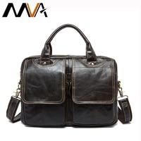 MVA Genuine Leather Men S Briefcases Men S Leather Bags Laptop Bag 14inch Bussiness Handbags Shoulder