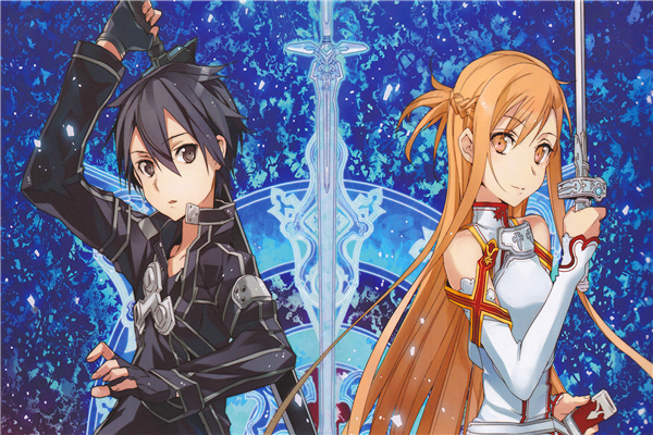 Custom Canvas Art Sword Art Poster Sword Art Online Game Wall Stickers SAO Mural Anime Wallpaper Christmas Bedroom Decor #377#