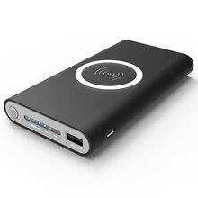 Новый 20000 мАч Запасные Аккумуляторы для телефонов внешний Батарея Quick Charge Беспроводной Зарядное устройство Мощность банк Портативный мобильного телефона Зарядное устройство для iphone 8 x