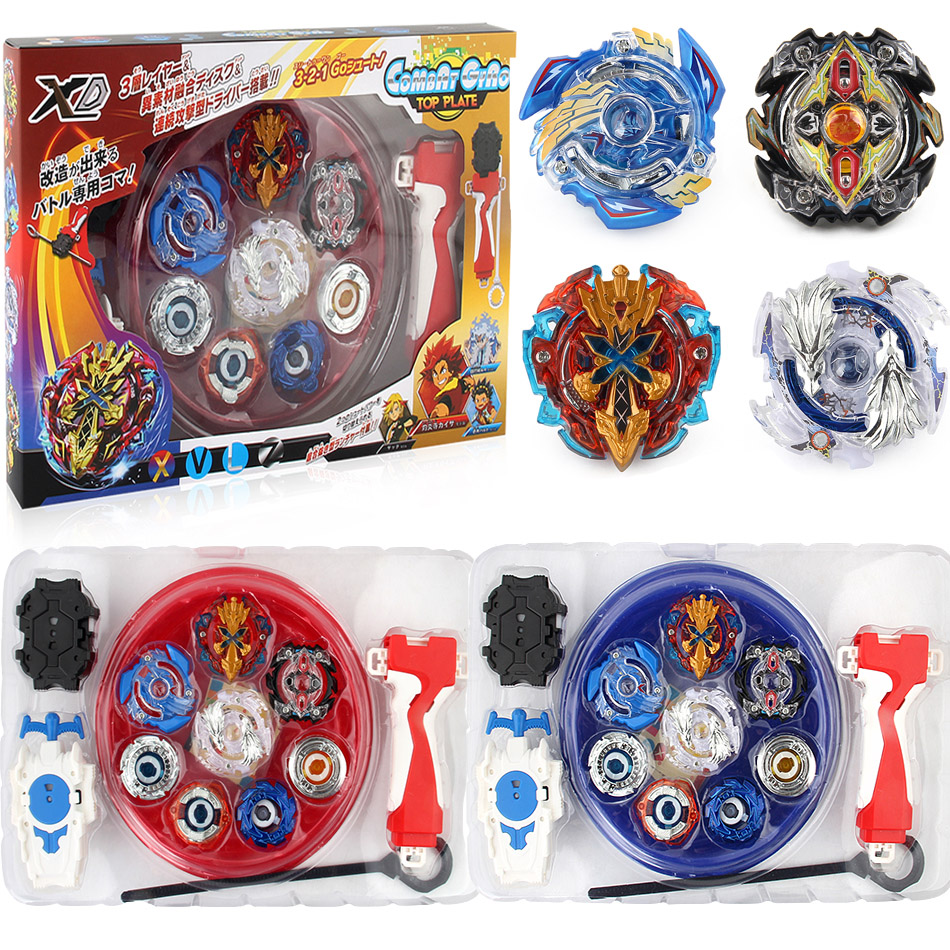 New 4PCS Boxed bayblade Beyblade Burst 4D Launcher Arena Metal Fight Battle Fusion Classic Toys B48 B66 B34 B59 Original Box Gif топор fusion battle ax sog