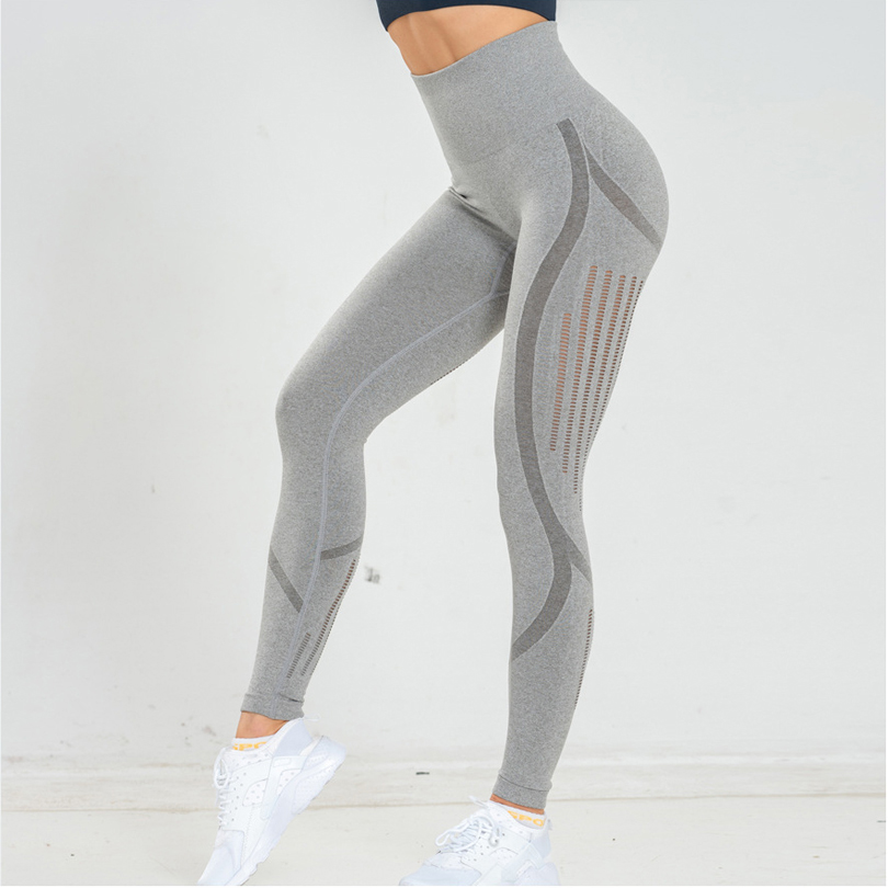 Sexy High Waist Bandage Women Leggings Black Patchwork Breathable Workout Elasticity Female Leggings Run Pants Casual Clothes in Leggings from Women 39 s Clothing