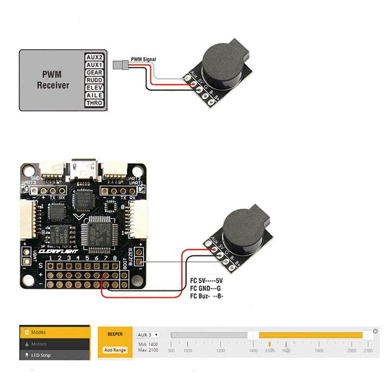 Matek System Loud Buzzer Board Beeper Fpv Flight Contrller 5v Loud Buzzer Dual Mode For Naze32