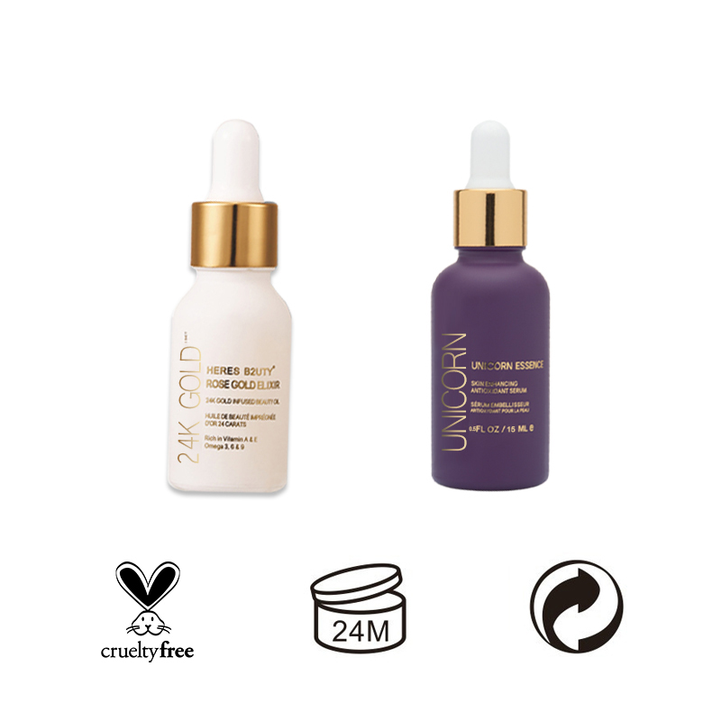 HERES B2UTY base maquiagem Essence Oil Skin Enhancing Antioxidant Serum+24K Gold Infused Beauty OilFree Nutritious Makeup Primer