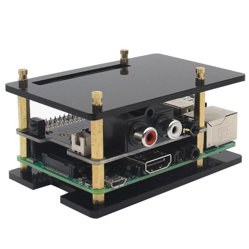X920 HIFI DAC PCM5122 Expansion Board+Acrylic Box for Raspberry Pi 3 Model B+/3B ...