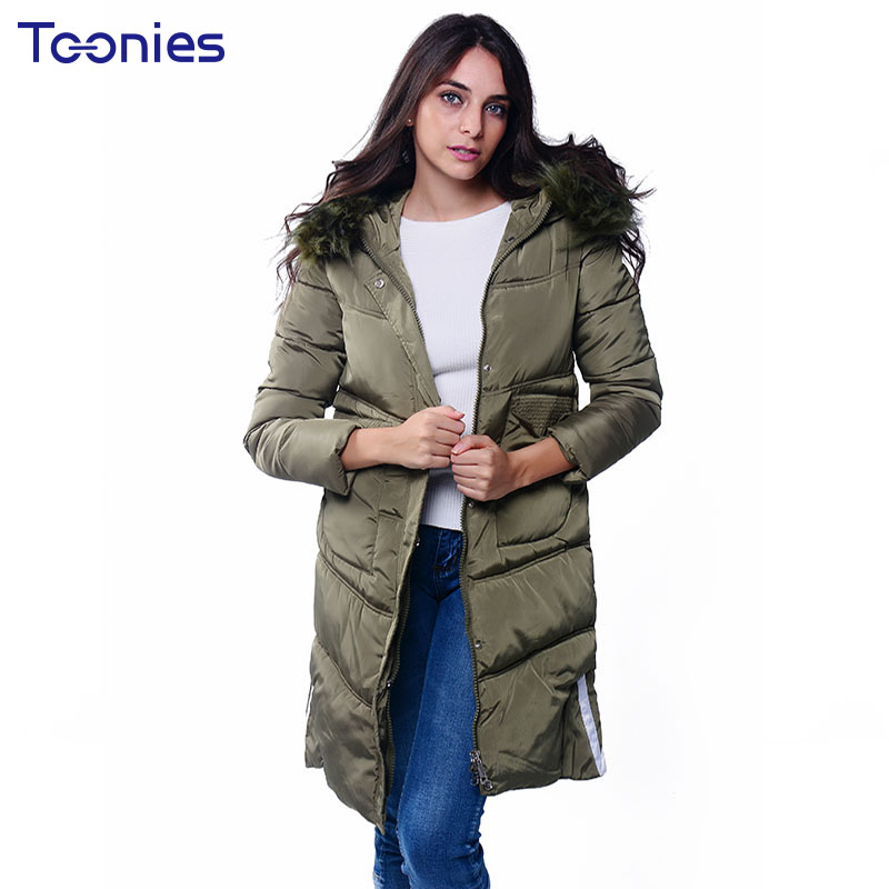 Manteau Femme Hiver 2017 Fur Hooded Thick Winter Jacket Women Letters Printed Long Parka Coat Fashion Abrigos Mujer Invierno thick winter jacket men coat mens winter jackets and coats parka manteau homme hiver abrigos hombres invierno hot sale 023