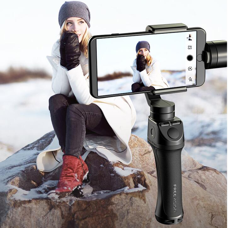 Freevision Vilta-M 3-axis Handheld Gimbal Smartphone Stabilizzatore per il iphone Xs Samsung GoPro HERO5 6 7 Yi 4 k pk dji osmo mobile 2