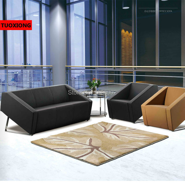 Delightful Creative Office Sofa Set Bar Barber Salon Furniture Manufacturer Sectional  Leather Sofa Coffee Table Combination Sapateira