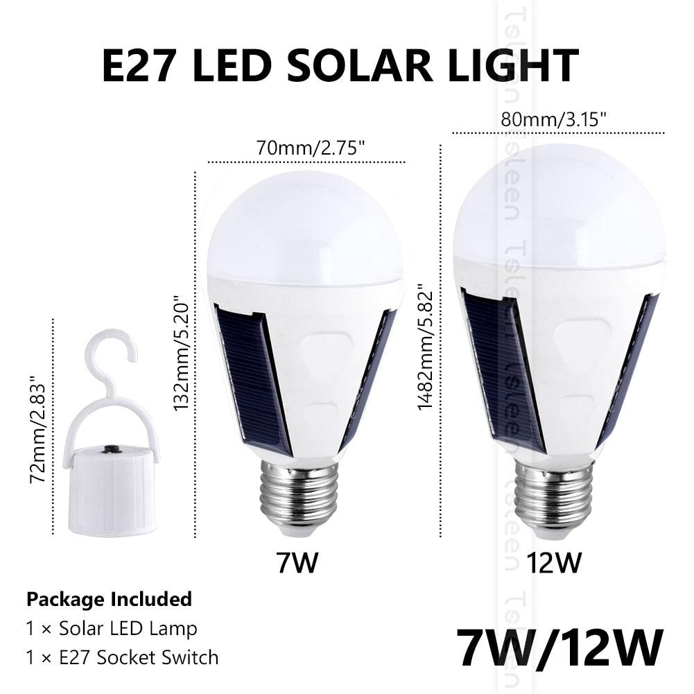 Lâmpadas Solares w 85 v-265 v inteligente Keyword 2 : Waterproof Led Solar Bulb