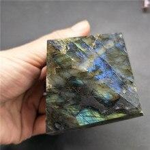 1pcs 50-60g Natural labradorite Mascot Quartz Pyramid Crystal Stone Healing Home Decor/DIY Ornament very good color