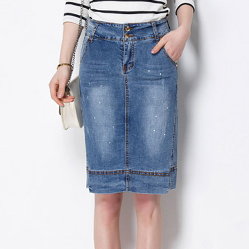 Popular Knee Length Jean Skirt-Buy Cheap Knee Length Jean Skirt ...