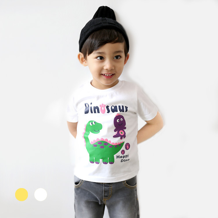 Children Clothing T-shirts for girls boys Kids children Clothes for Summer Style tshirts brand T shirts Cartoon dinosaur prints