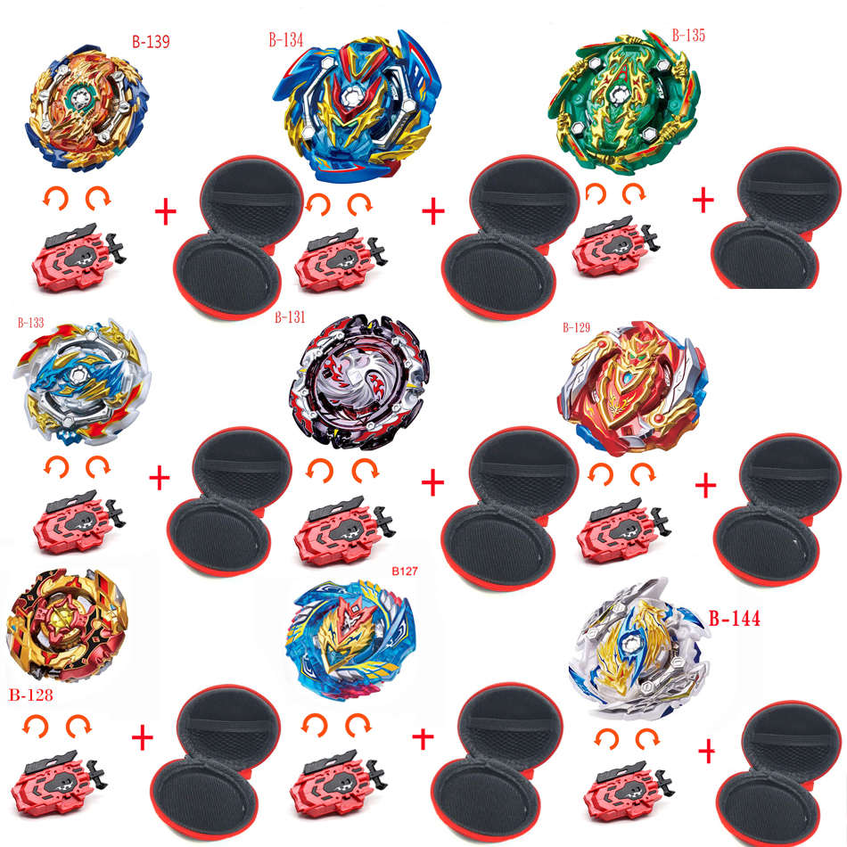 TAKARA TOMY 2019 New <font><b>Beyblade</b></font> <font><b>Burst</b></font> <font><b>B</b></font>-144 <font><b>B</b></font>-139 <font><b>B</b></font>-<font><b>133</b></font> <font><b>B</b></font>-131 Toys Arena With Launcher Blade Metal Fusion God Spinning Top Blades image